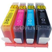 3070A 4 cartucho de tinta compatível para HP-364 DeskJet 3520 Officejet 4610 4620 4622 Impressora jato de tinta