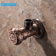 """Doodii العتيقة الأحمر زاوية صمام 1/2 """"malex1/2"""" اكسسوارات للمرحاض الحمام بالوعة المطبخ حوض المياه توقف صمام المرحاض"""