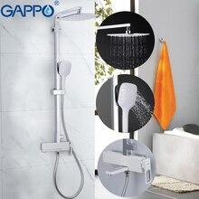 GAPPO robinet de baignoire chromé douche de massage   Ensemble de douche de salle de bains mélangeur de pluie, douche murale, robinet de baignoire torneira do anheiro