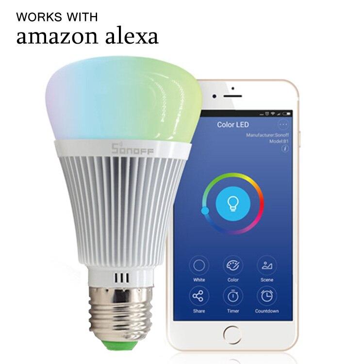 6W E27 bombilla Led atenuador Wifi bombillas inteligentes Control remoto Wifi interruptor de luz Led cambio de Color bombilla funciona con Alexa