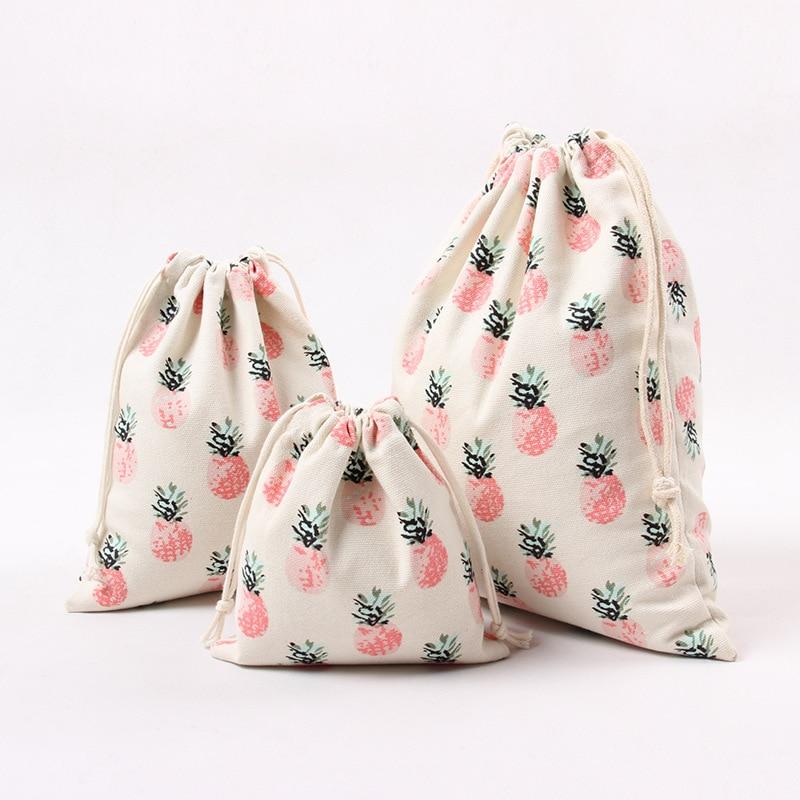 5 unids/lote de artesanía tela Shabby Chic Rosa Linda piña pequeña bolsa de almacenamiento de joyería de regalo, bolso cosmético, drew de E01