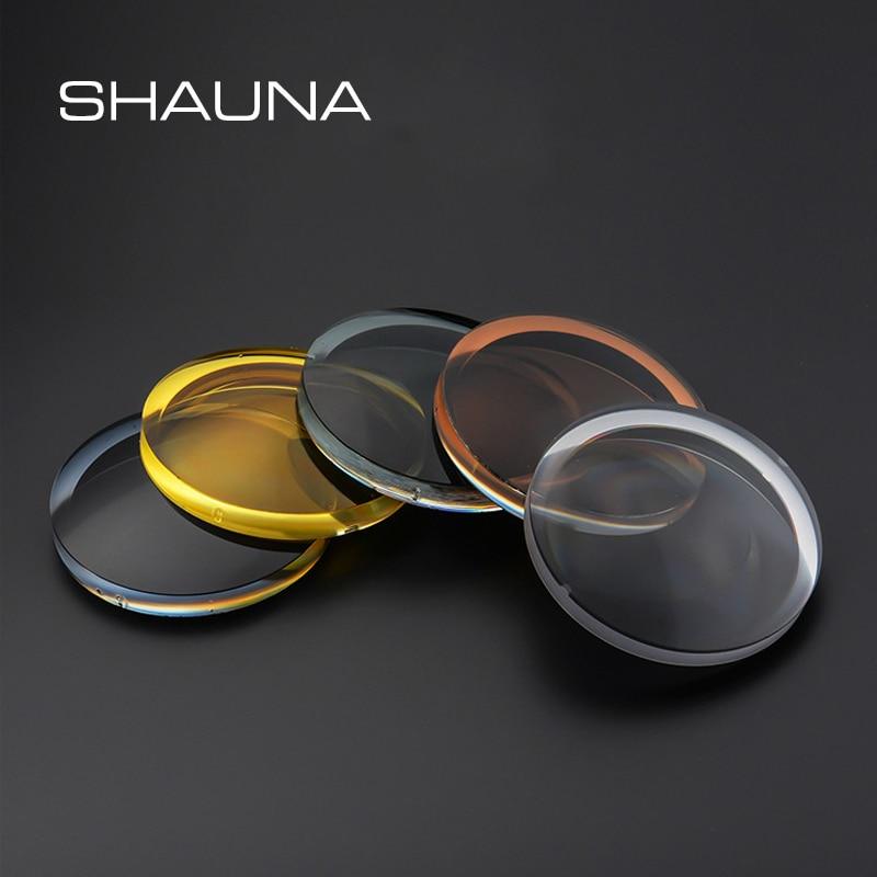 SHAUNA 1.50 1.61 1.67 Polarized myopia sunglasses Prescription Lenses Driving Night Vision Lens UV40
