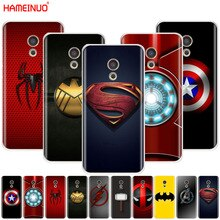 HAMEINUO avengers Super hero logo Housse coque de téléphone pour Meizu M6 M5 M5S M2 M3 M3S MX4 MX5 MX6 PRO 6 5 U10 U20 note plus
