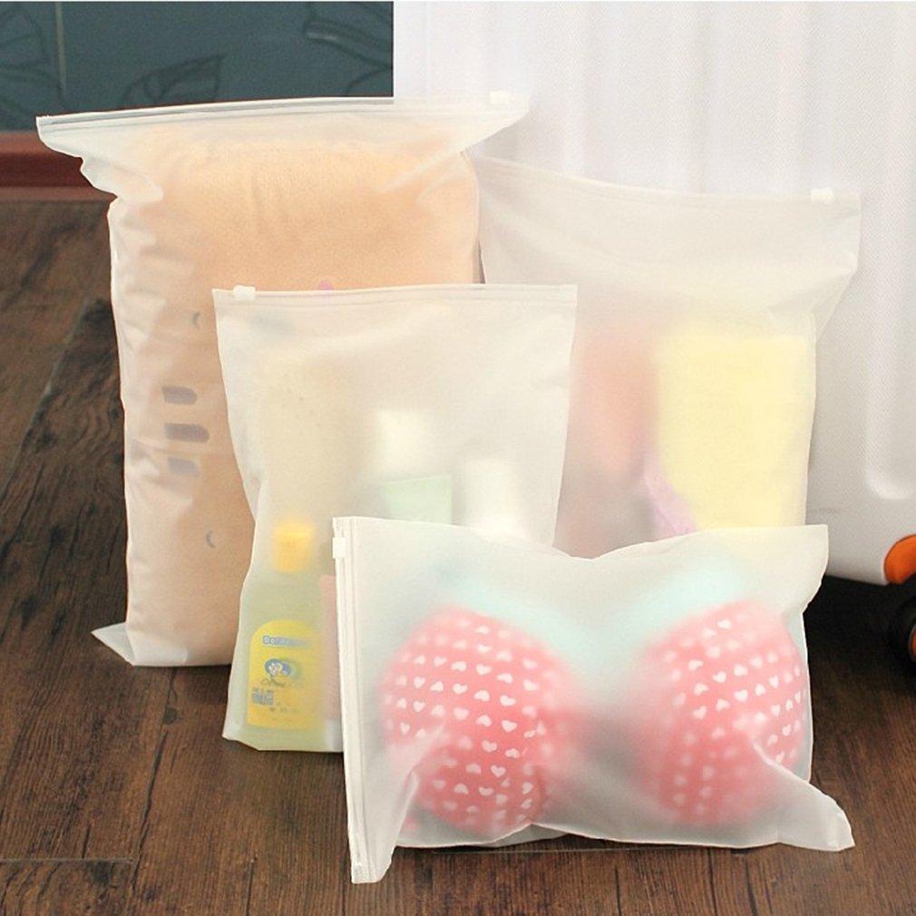 5 pièces sacs de natation mat givré poche sac de natation scellé étanche Transparent Eco Ziplock sac vêtements soutien-gorge stockage de chaussures