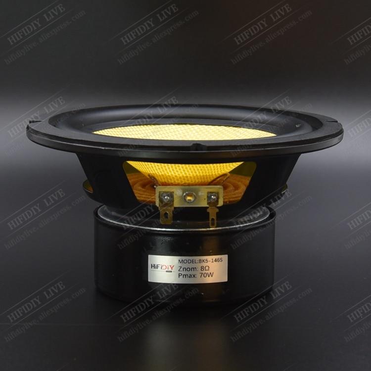 "HIFIDIY LIVE HIFI 5 inch 5.5"" Midbass Woofer speaker Unit  4 / 8 OHM 70W Glass fiber vibratory basin Loudspeaker BK5-146S"