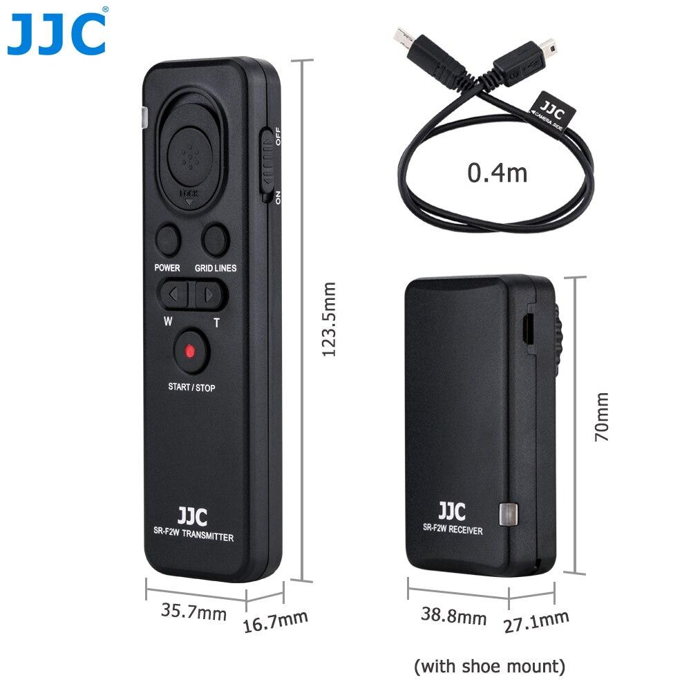 Control remoto inalámbrico de cámara JJC para SONY Alpha a7III a7SII a7R a6000 a6300 a6500 etc. Reemplazar RMT-VP1K o comandante de RM-VPR1