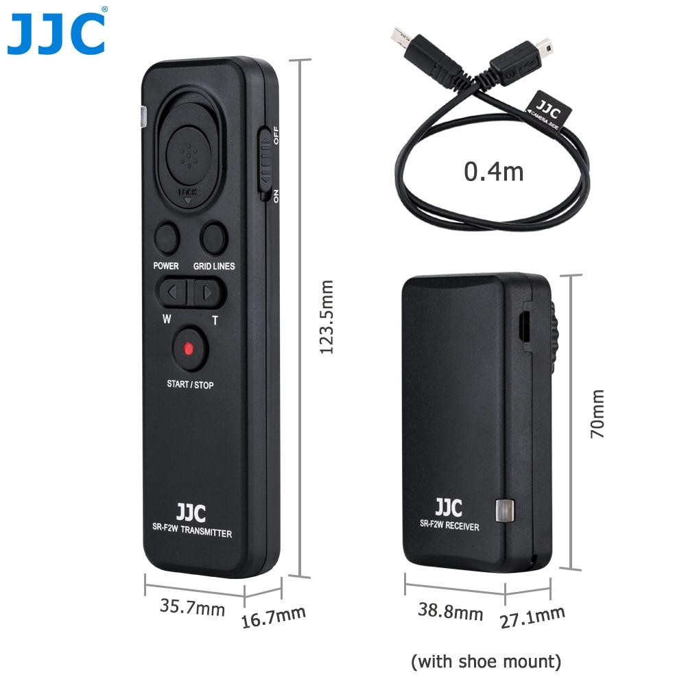 JJC מצלמה אלחוטי עבור SONY Alpha a7III a7SII a7R a6000 a6300 a6500 וכו '. להחליף RMT-VP1K או RM-VPR1 מפקד
