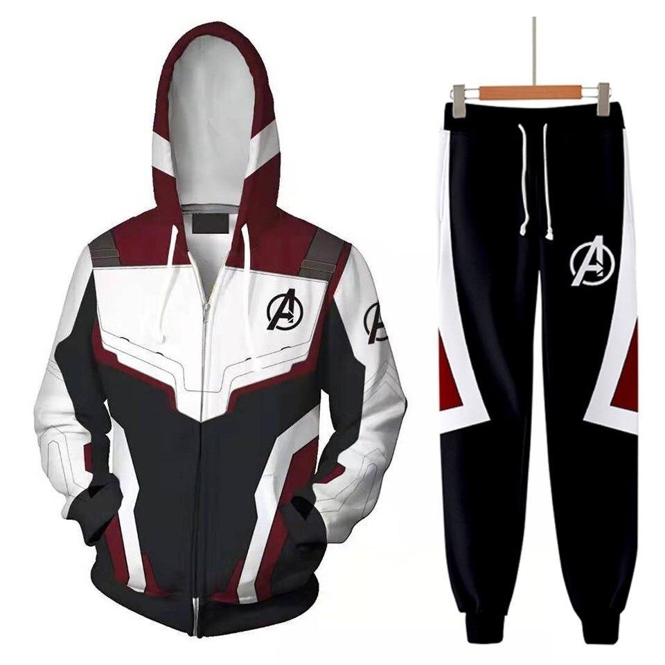 DLF10-20Y avengers 4 endgame hoodies calças terno quantum realm t camisa cosplay 2019 3d impresso roupas de secagem rápida traje