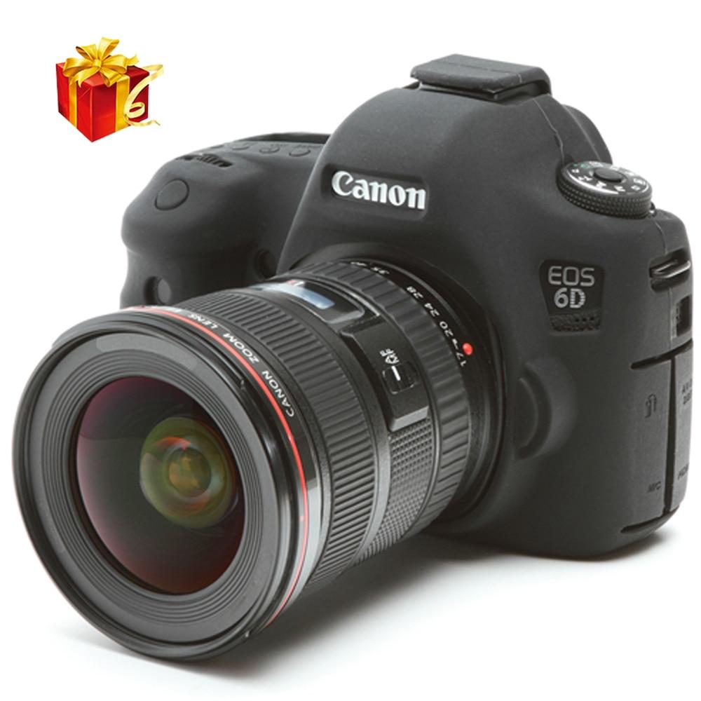 عالية الجودة لينة سيليكون المطاط كاميرا واقية الجسم حالة الجلد لكانون 6D DSLR حقيبة كاميرا حامي غطاء