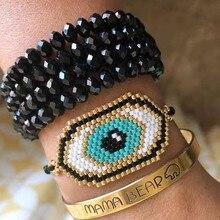 Pulsera Shinus Evil Eye, pulsera MIYUKI Eye, Pulseras de joyería para Mujer, Pulseras para Mujer, verano 2019, playa, oro, joyería hecha a mano