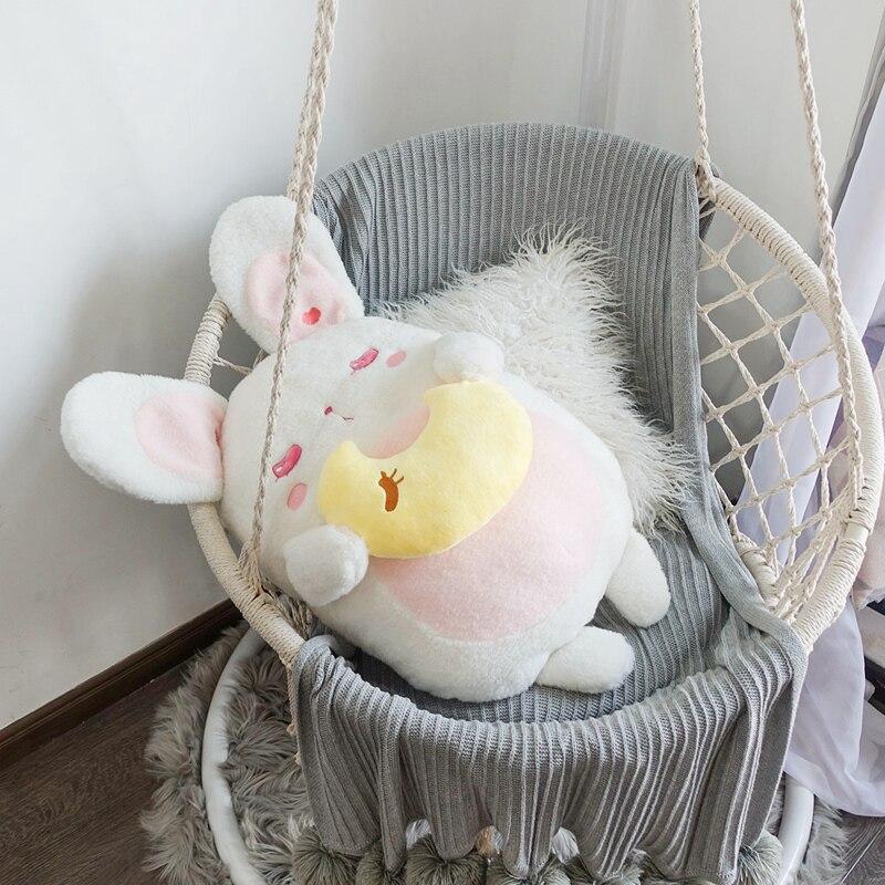 Oreja grande, adorable Conejo, muñeca, juguetes suaves de peluche para bebés, conejo, compañero de dormir, Animal de peluche, juguetes para bebés