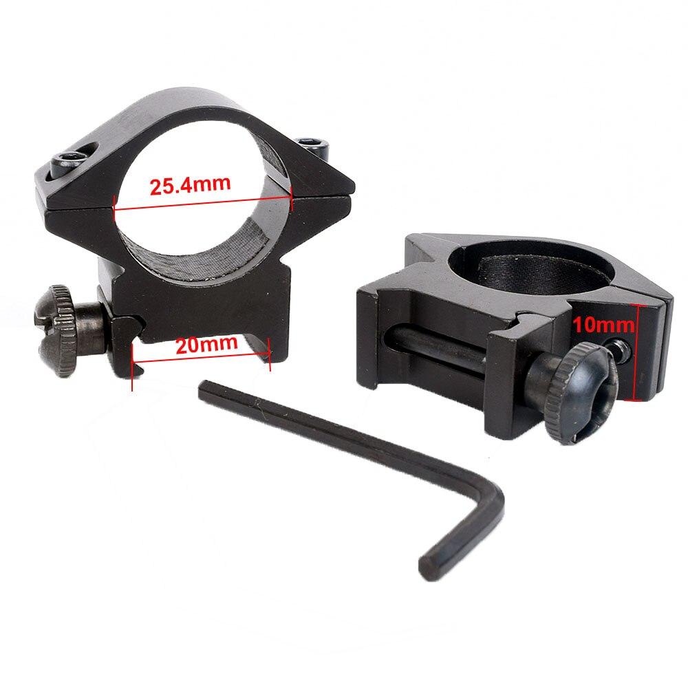 WIPSON, 2 uds., 25,4mm, anillo de mira telescópica de montaje, 20mm, Riel de alcance de cola de Milano, picatinny para montaje del visor del rifle, pistola de caza
