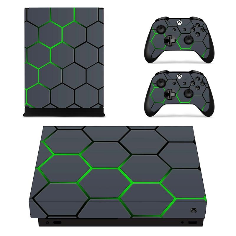 Съемный пользовательский дизайн виниловая кожа наклейка пленка для XBOX ONE X Консоль протектор + XBOX ONE X контроллер крышки наклейки