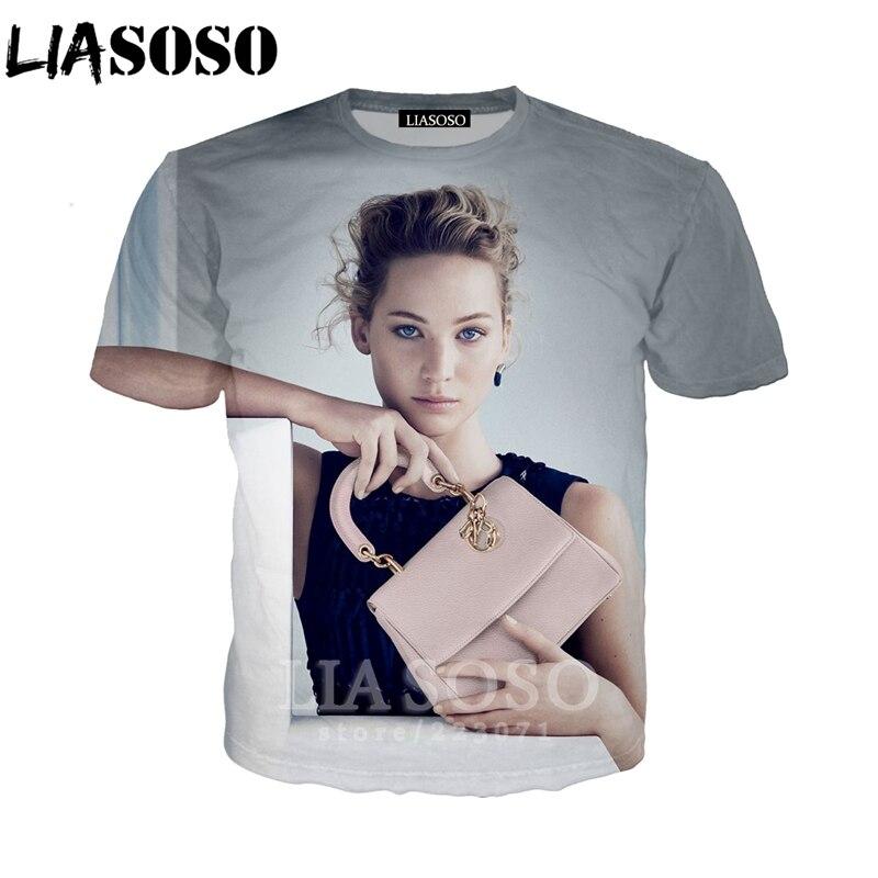 LIASOSO 2019 nueva sudadera de moda para hombres y mujeres con estampado 3D de Actor de la impresión de la camiseta de manga corta Casual lindo pulóver A155-01