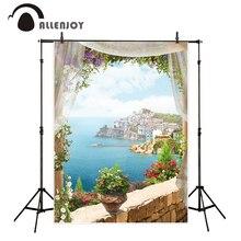 Allenjoy océan et ville côtière photographie arrière-plans floraux romantique arrière-plans esthétiques pour appareil photo studio fotografica