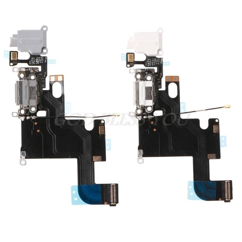 Los Cables de Video conector de puerto de carga USB micrófono auricular Jack Flex Cable partes para iPhone 5/5S/6/6/6plus/6s/6s plus/7/7plus