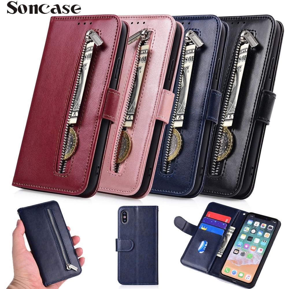 Zipper Wallet Flip Leather Case for Samsung Galaxy S10 S9 S8 Plus S5 S3 Neo S4 J1 J3 J5 J7 A3 A5 2016 2017 Grand Prime Fundas