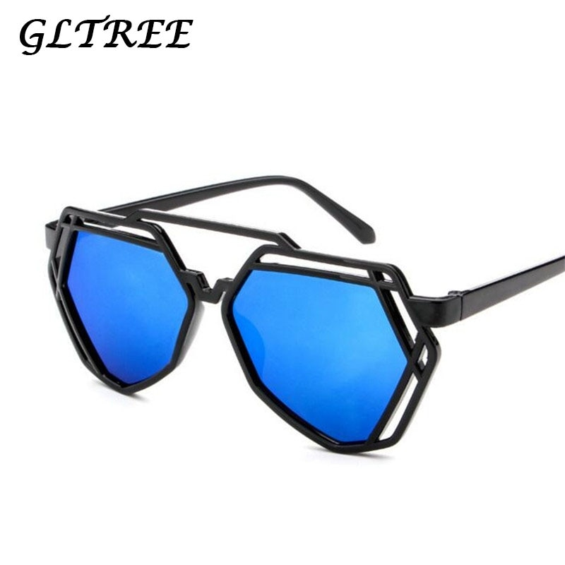 GLTREE 2019 Fashion Sunglasses Women Lrregular Polygon Womens Brand Designer Frame Pilot Mens UV400 G224