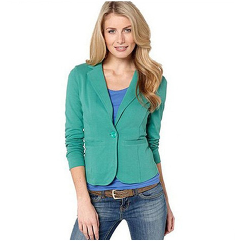 YYFS spring and autumn explosions womens European American casual small suit female candy color slim jacket women