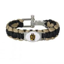 Brazalete ajustable de supervivencia con letras griegas personalizadas, accesorios de fraternidad, regalo 550, pulseras de Paracord Alpha Phi Alpha