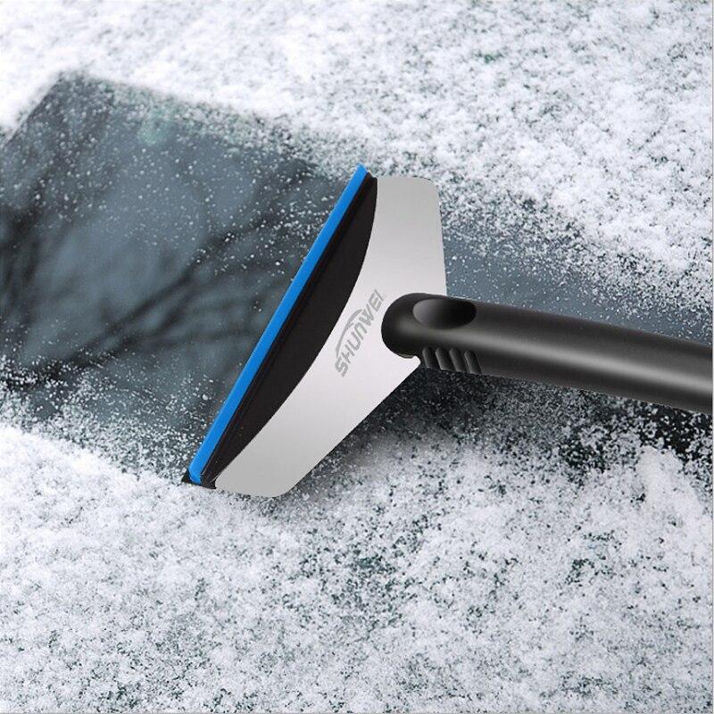 Nuevo útil rascador de eliminación de nieve para parabrisas de coche rascador de hielo portátil pala herramienta de limpieza de ventana No daña TRP gris verde rojo azul