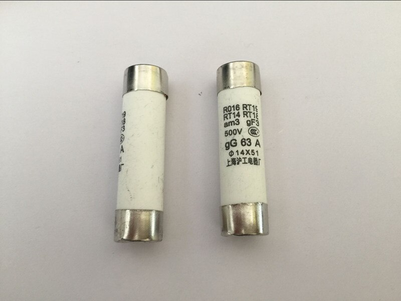 20 piezas fusible R016 RT18 50A 500V 14*51 de fusible