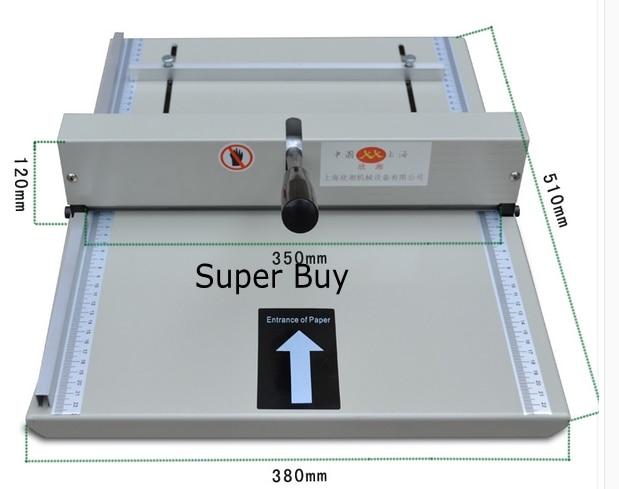 Handmatige papier creaser rillen machine 350mm