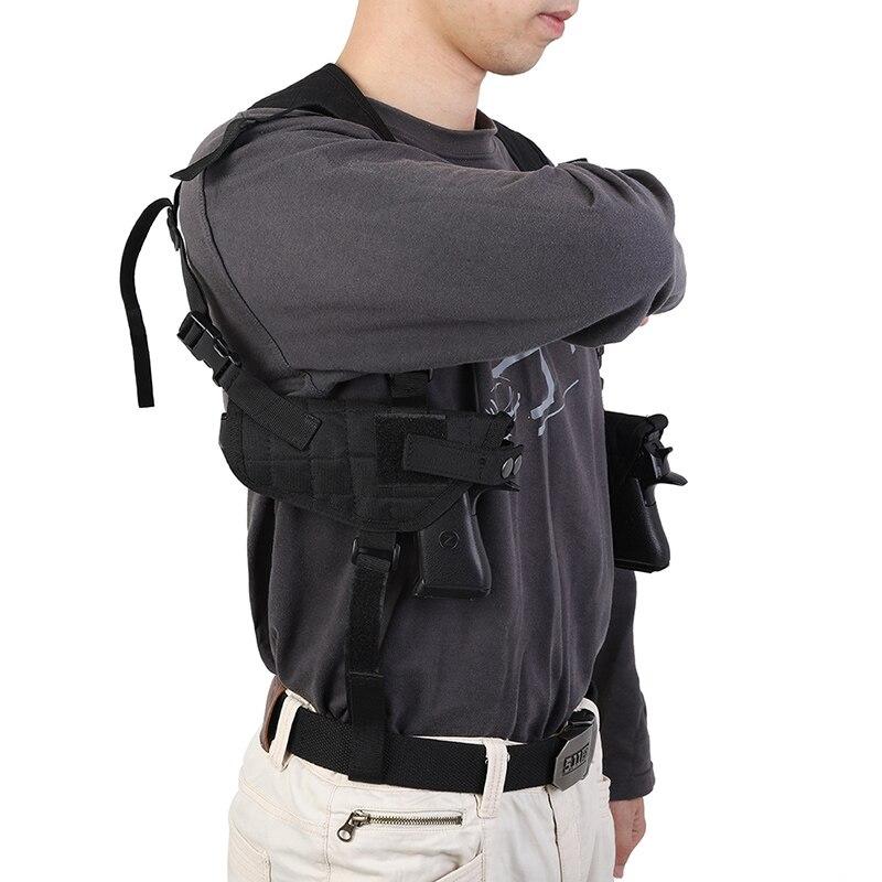 Llevar táctica debajo del brazo hombro doble empate pistola pistolera al aire libre caza funda portátil