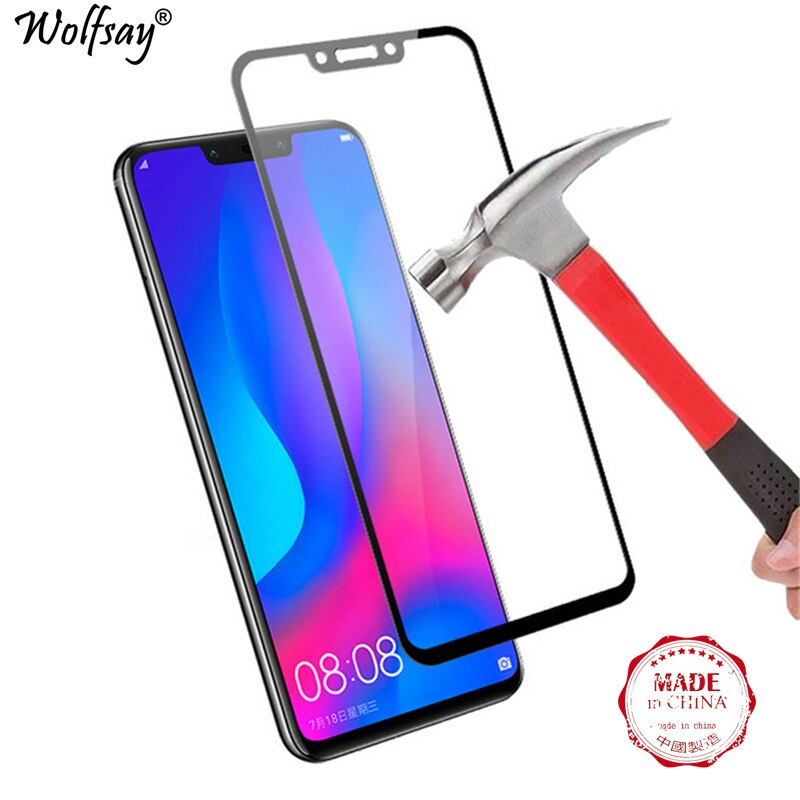 Full Screen Protector For Huawei Nova 3i Tempered Glass No White Edge Protective Glass For Huawei No