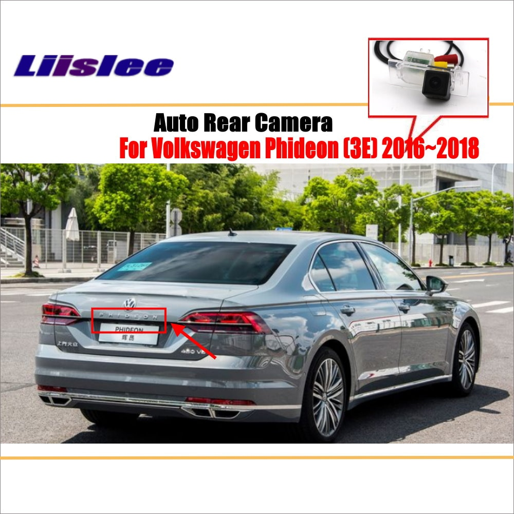liislee rear view camera for peugeot 408 2014 2018 reverse hole parking back up camera night vision Liislee Reverse Rear Camera For Volkswagen VW Phideon 2016~2018 / Parking Back Up Camera / License Plate Lamp / Night Vision