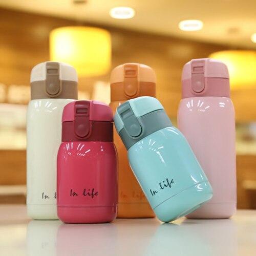Mini termo para niños, botella de acero inoxidable, termo, tazas de café, Termos, niños, taza vientre, botella térmica escolar