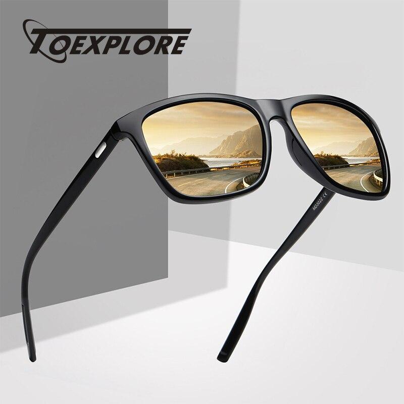 TOEXPLORE Polarized Mens Anti-Glare Sunglasses Women Sports Eyewear Driving Goggles Luxury Mirror Sun Glasses Brand Designer