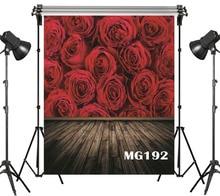 Fondo fotográfico de poliéster y vinilo con diseño de rosas rojas y grandes fondo para estudio de fotografía utilería para FONDO DE FOTOS
