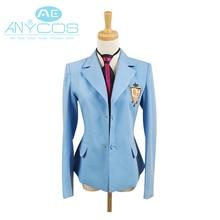 Ouran lycée hôte Club Cosplay garçon école uniforme Blazer bleu veste manteau Haruhi Kyoya Hikaru Takashi déguisement dhalloween