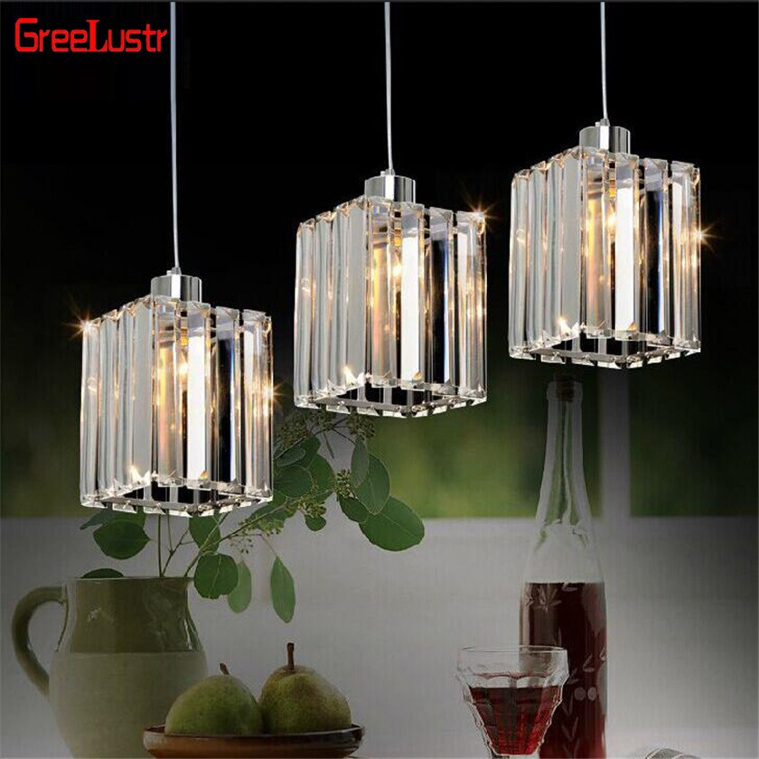 Modernas lámparas colgantes led de cristal, lámpara colgante de lujo para cocina, lámpara colgante para vestíbulo, Lustre, Luminaria para el hogar, accesorios de iluminación
