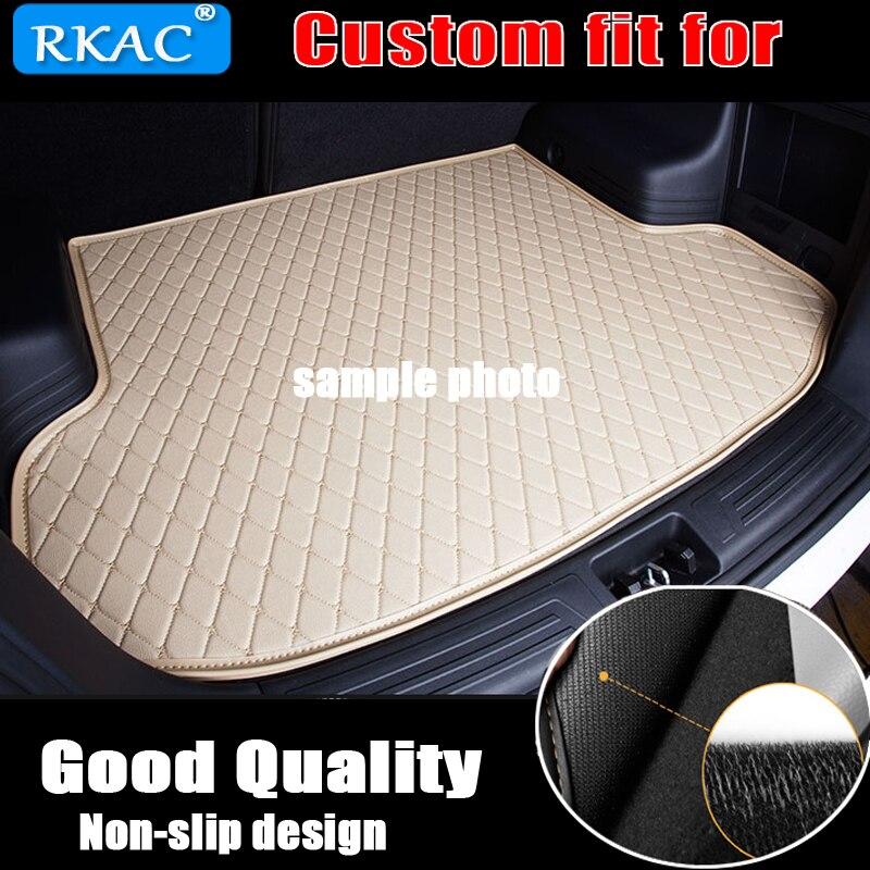 RKAC custom car trunk mat for Nissan All Models qashqai x-trail tiida primera pathfinder car accessories custom cargo liner