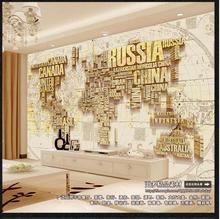 Papier peint photo mural 3d personnalisé   Panier britannique, carte du monde, fond de mur rue pour restaurer danciennes voies, papiers muraux