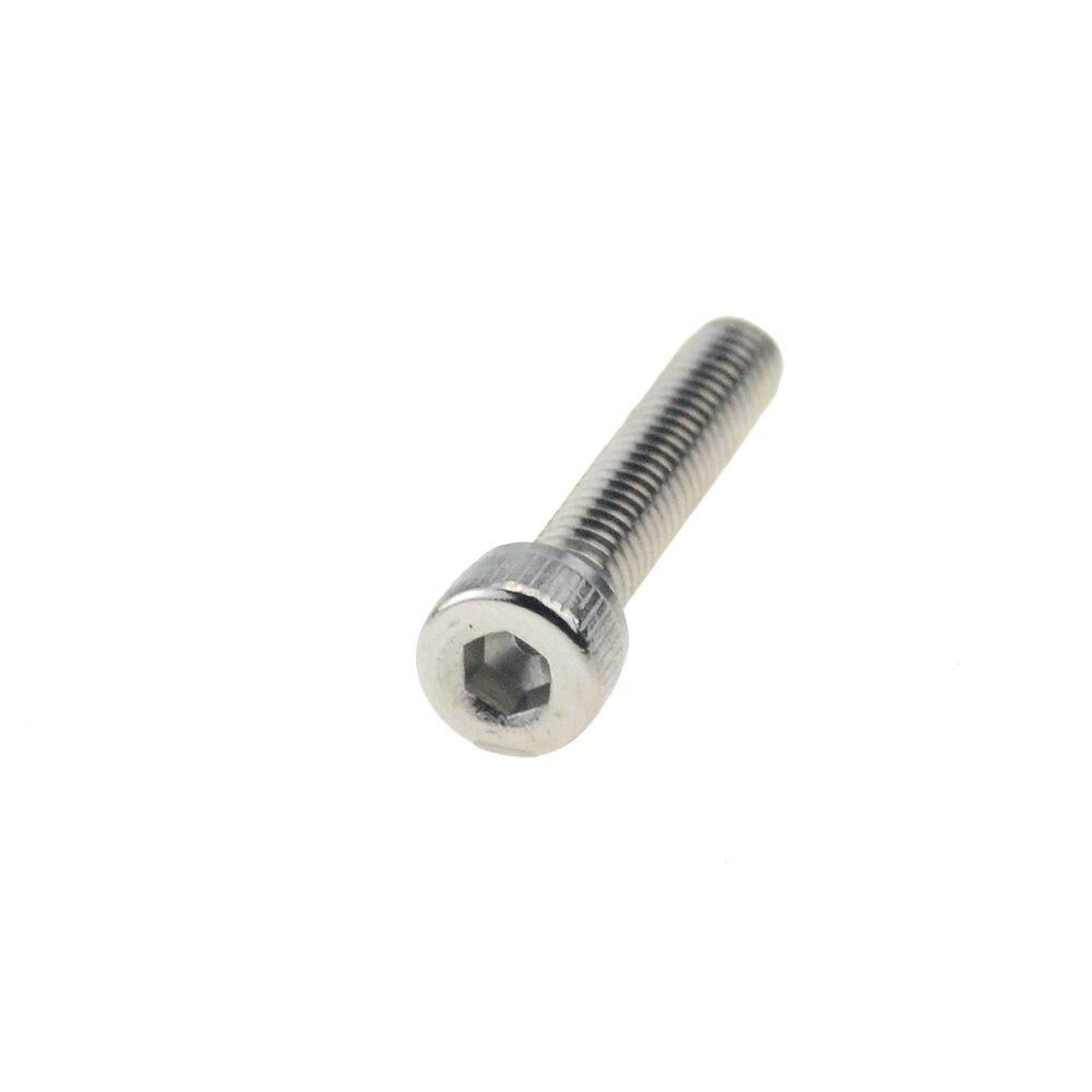 20 unids/lote rosca métrica M5x16 mm M6x20 mm M6x16mm 304 A2 de acero inoxidable DIN912 hexagonal de cabeza hexagonal tornillo Allen tornillo