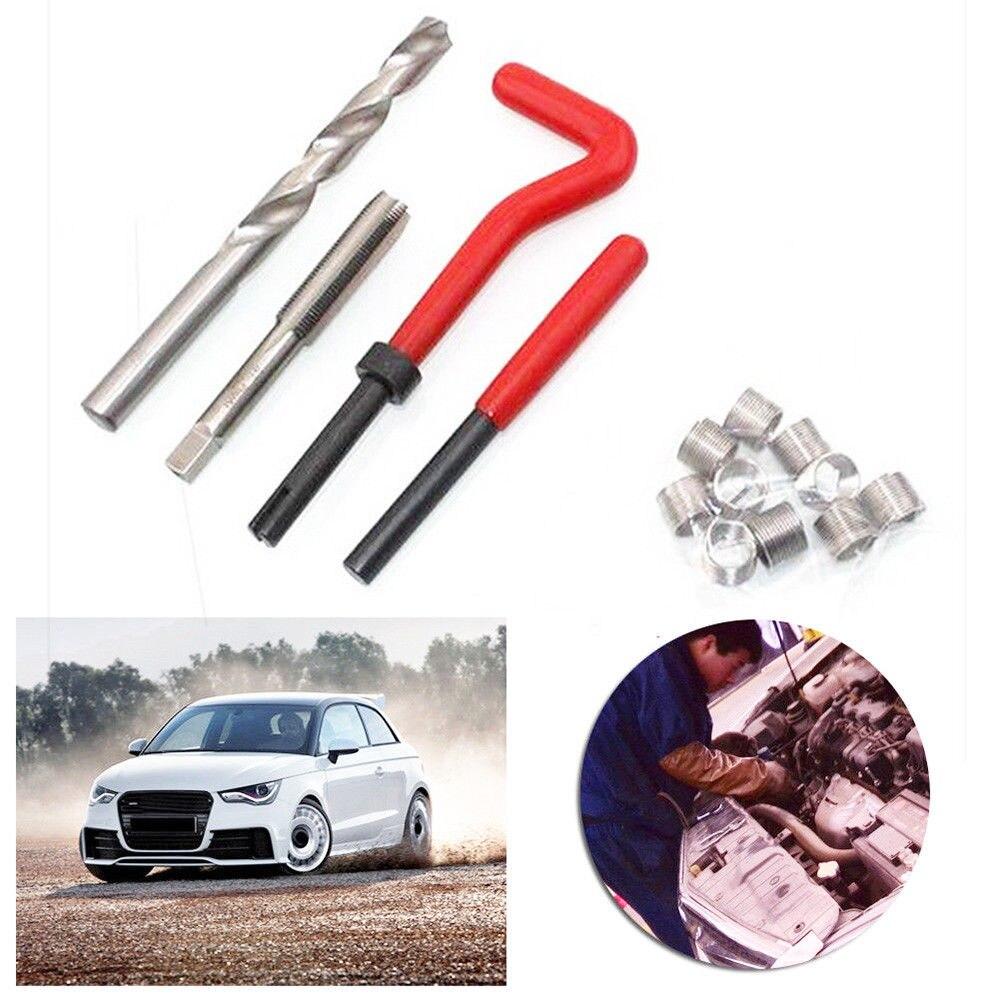 Helicoil do carro pro ferramenta de broca de bobina grossa pé-de-cabra ferramenta automotiva moeda m4 m5 m6 m8 m10 m12 m14 rosca métrica reparação kit inserção