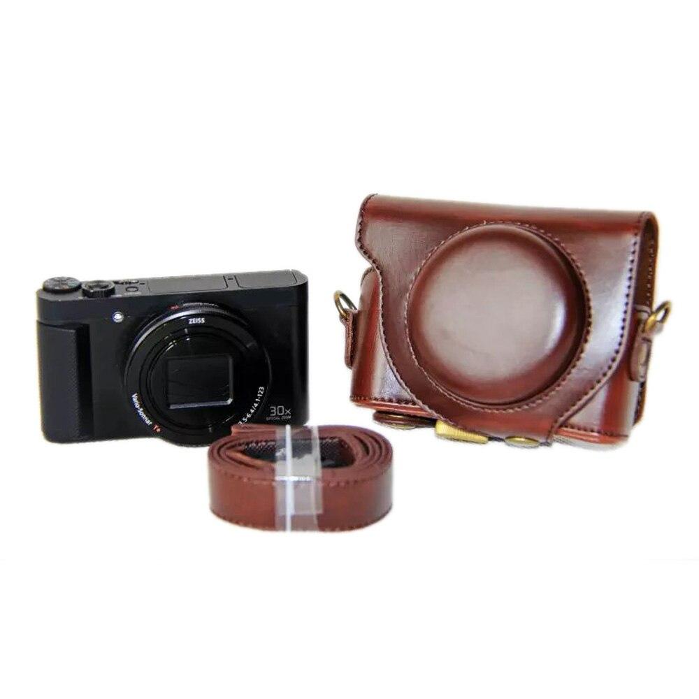 Funda de cuero PU para cámara para Sony HX90 HX90V bolsa de cámara WX500 funda protectora 3 colores negro marrón café