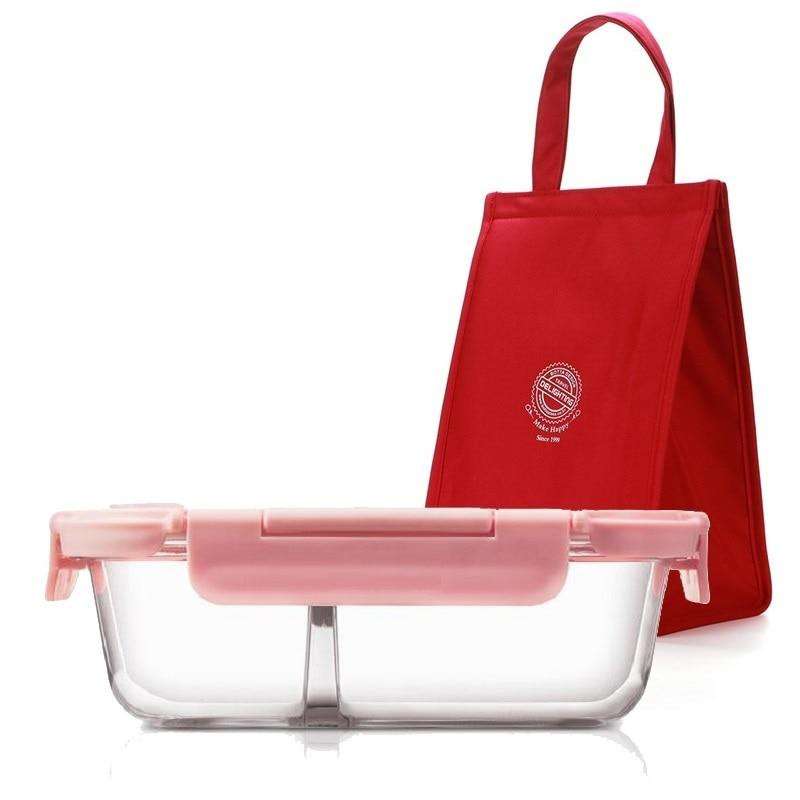 Fiambrera de cristal con bolsa de almuerzo de moda, contenedor de comida para mujeres, producto de cocina para el hogar, cajas de Picnic, oficina, hombres, Lancheira térmica
