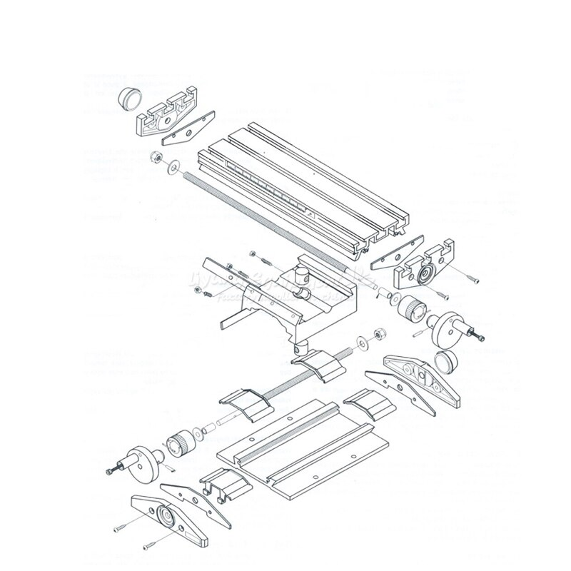 multifunction Milling Machine Bench drill Vise Fixture worktable X Y-axis adjustment Coordinate table enlarge