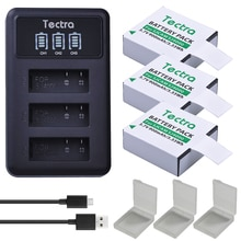 3 шт. Аккумулятор для экшн-камеры + светодиодный USB 3 слота зарядное устройство для AKASO,Crosstour,SJCAM,SJ4000,M10,SJ5000 4K Подводная камера