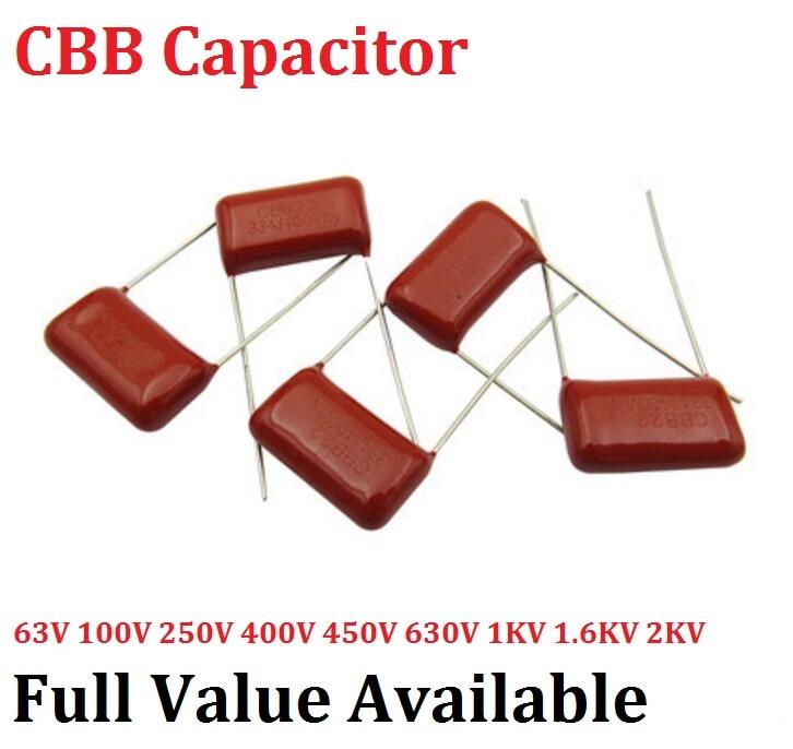 10 pçs/lote 125J 20MM 1.2UF CBB 400V Metalizado Film Capacitor capacitância 125J400V 400V125J 125