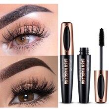 Mascara imperméable pour cils longue durée 4d fibre de soie mascara cils maquillage mascara pour les yeux extension noire