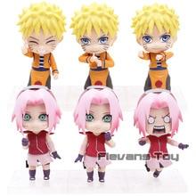 Naruto Shippuden Uzumaki Naruto/Sakura Haruno Q Version PVC figurines jouets 3 pièces/ensemble
