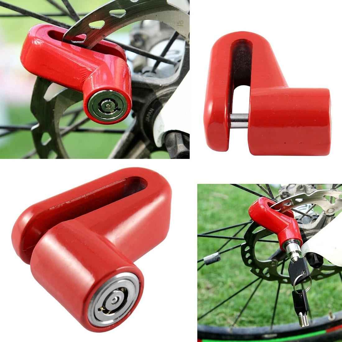 Coche-Departamento de buena calidad bicicleta de la motocicleta resistente freno de disco de rueda cerradura de seguridad de Anti ladrón alarma disco Bloqueo de Rotor de freno de disco