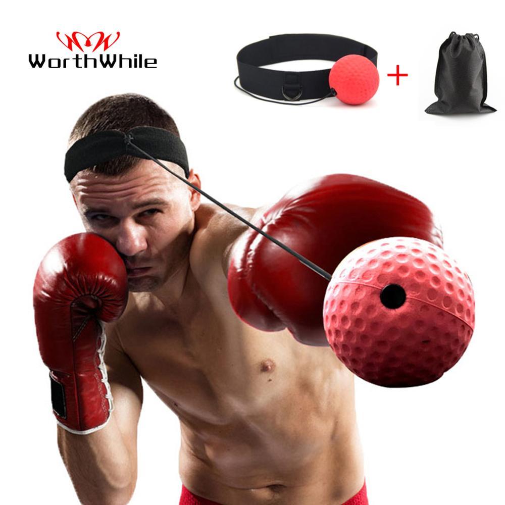 Lohnende Kick Boxing Reflex Ball Kopf Band Kampf Geschwindigkeit Training Punch Ball Muay Tai MMA Übung Ausrüstung Zubehör