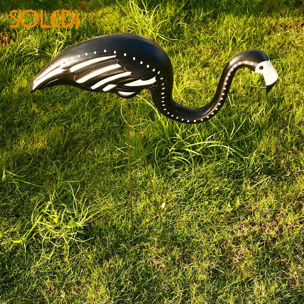 Flamingo Ornamento Figurinhas Flamingo Bonito Figurinhas Jardin Jardim Quintal Gramado Artificial de Plástico Decoração transporte da gota