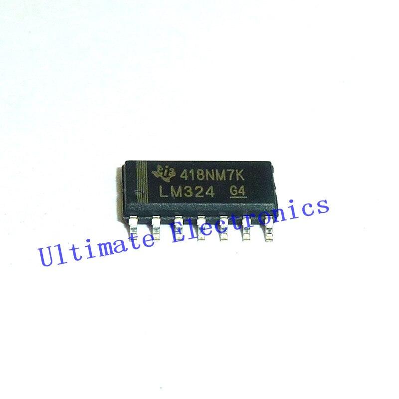 100 unids/lote LM324 SOP14 amplificador operacional cuádruple OP Amps SOIC14